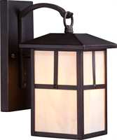 Picture for category Nuvo 60/5671 Tanner Outdoor Lighting Lamps 6in Claret Bronze Honey Stained