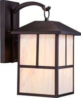 Picture for category Nuvo 60/5673 Tanner Outdoor Lighting Lamps 10in Claret Bronze Honey Stained