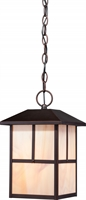 Picture for category Nuvo 60/5674 Tanner Outdoor Lighting Lamps 8in Claret Bronze Honey Stained