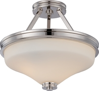 Picture for category Nuvo 62/424 Cody Ceiling Medallion Lighting 13in Polished Nickel Satin White