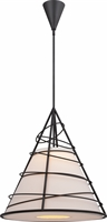 Picture for category Nuvo 62/453 Toro Pendants 24in Dark Bronze Linen Fabric 1-light