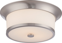 Picture for category Nuvo 60/5460 Mobili Ceiling Medallion Lighting 13in Brushed Nickel Satin White