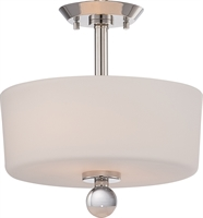 Picture for category Nuvo 60/5497 Connie Ceiling Medallion Lighting 13in Polished Nickel 2-light