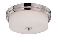 Picture for category Nuvo 60/5207 Parallel Ceiling Medallion Lighting 15in Polished Nickel 3-light