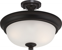 Picture for category Nuvo 60/5700 Elizabeth Ceiling Medallion Lighting 18in Sudbury Bronze Frosted