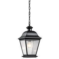 Picture for category Kichler 9809BK Mount vernon Outdoor Pendant 10in Black 1-light