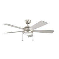 Picture for category Kichler 300173NI Starkk Ceiling Fans 52in Brushed Nickel 1-light