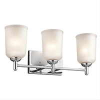 Picture for category Kichler 45574CH Shailene Bath Lighting 21in Chrome 3-light