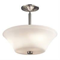Picture for category Kichler 43669NI Aubrey Semi Flush 15in Brushed Nickel 3-light