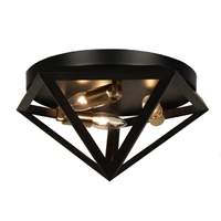 Picture for category Dainolite ARC-123FH-AB Archello Flush Mounts 12in Matte Black Steel 3-light
