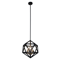 Picture for category Dainolite ARC-143C-AB Archello Chandeliers 13in Matte Black Steel 3-light