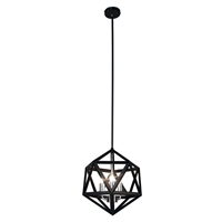 Picture for category Dainolite ARC-143C-SC Archello Chandeliers 13in Matte Black Steel 3-light