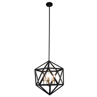 Picture for category Dainolite ARC-185C-AB Archello Chandeliers 18in Matte Black Steel 5-light