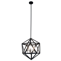 Picture for category Dainolite ARC-185C-SC Archello Chandeliers 18in Matte Black Steel 5-light