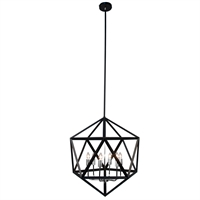 Picture for category Dainolite ARC-226C-SC Archello Chandeliers 22in Matte Black Steel 6-light