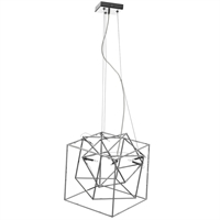 Picture for category Dainolite CBE-166P-PC Cubo Pendants 16in Polished Chrome Steel 6-light