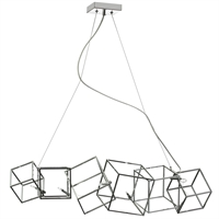 Picture for category Dainolite CBE-316HP-PC Cubo Chandeliers 9in Polished Chrome Steel 6-light