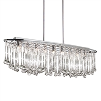 Picture for category Dainolite TAM-368HC-PC Tamara Chandeliers 10in Polished Chrome Glass 8-light