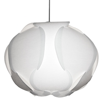 Picture for category Dainolite DBC-L-790 Globus Pendants 22in White Fabric 3-light