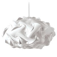 Picture for category Dainolite DBL-FLT-790 Globus Pendants 25in White Fabric 3-light