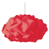 Picture for category Dainolite DBL-FLT-795 Globus Pendants 25in Red Fabric 3-light
