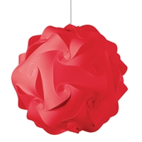 Picture for category Dainolite DBL-L-795 Globus Pendants 26in Red Fabric 3-light