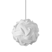 Picture for category Dainolite DBL-M-790 Globus Pendants 16in White Fabric 1-light