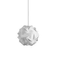 Picture for category Dainolite DBL-S-790 Globus Pendants 9in White Fabric 1-light