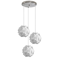 Picture for category Dainolite DBL-3SR-790 Globus Pendants 9in White Fabric 3-light