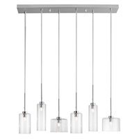 Picture for category Dainolite IC-286P-PC Industrial Chic Pendants 7in Polished Chrome Steel 6-light