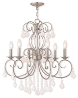 Picture for category Livex Lighting 50766-91 Chandeliers Brushed Nickel Steel 6-light