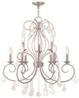 Picture for category Livex Lighting 50769-91 Chandeliers 29in Brushed Nickel Steel 9-light