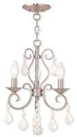 Picture for category Livex Lighting 50763-91 Chandeliers Brushed Nickel Steel 3-light