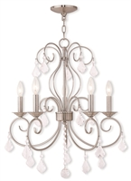 Picture for category Livex Lighting 50765-91 Chandeliers Brushed Nickel Steel 5-light