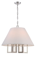 Picture for category Crystorama 2256-PN Westwood Chandeliers 24in Polished Nickel Steel 6-light