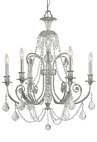 Picture for category Crystorama 5116-OS-CL-I Regis Chandeliers 26in Olde Silver Wrought Iron 6-light