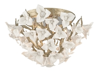 Picture for category Corbett 211-34 Lily Semi Flush Enchanted Silver Lea Hand Crafted Iron 4-light