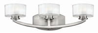 Picture for category Hinkley 5593BN-LED Meridian Bath Lighting 21in Nickel Tones Metal 3-light