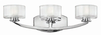 Picture for category Hinkley 5593CM-LED Meridian Bath Lighting 21in Chromes Tones Metal 3-light