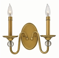 Picture for category Hinkley 4952HB Eleanor Wall Sconces 13in Brass Tones Steel 2-light