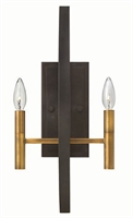 Picture for category Hinkley 3460SB Euclid Wall Sconces 10in Bronze Tones Steel 2-light