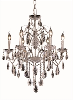 Picture for category Elegant 2016D24C/RC St Francis Chandeliers 24in Chrome 6-light