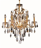 Picture for category Elegant 2016D24G/EC St Francis Chandeliers 24in Gold 6-light