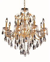 Picture for category Elegant 2016D26G/EC St Francis Chandeliers 26in Gold 8-light
