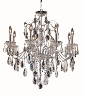 Picture for category Elegant 2016D26C/SA St Francis Chandeliers 26in Chrome 8-light