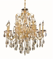 Picture for category Elegant 2016D28G/SA St Francis Chandeliers 28in Gold 12-light