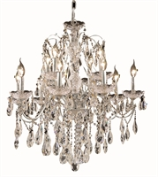 Picture for category Elegant 2016D28C/SS St Francis Chandeliers 28in Chrome 12-light