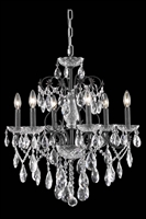 Picture for category Elegant 2016D24DB/EC St Francis Chandeliers 24in Dark Bronze 6-light
