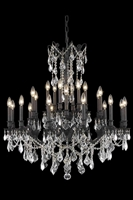Picture for category Elegant 9224D36DB/EC Rosalia Chandeliers 36in Dark Bronze 24-light