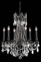 Picture for category Elegant 9206D23DB/RC Rosalia Chandeliers 23in Dark Bronze 6-light